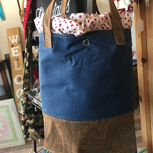 Handmade Pioneer Woman Placemat And Denim Tote