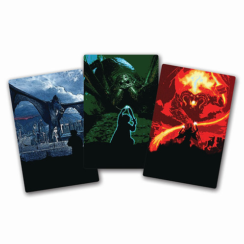"LOTR METAL POSTERS SET OF 3 ""SMALL SIZE"""