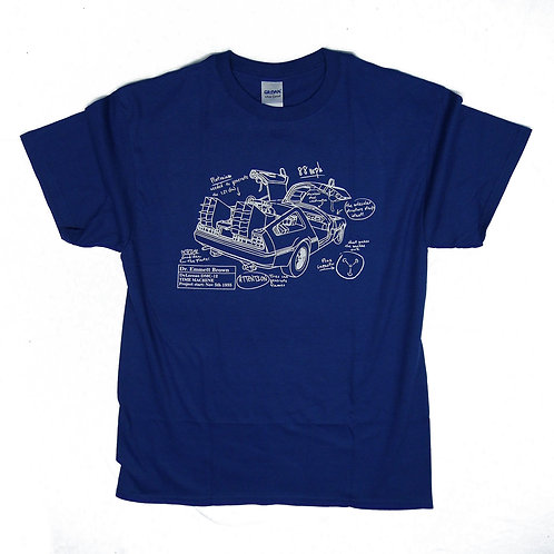 "Back to the future inspired T-shirt ""Blueprint"" S - 5XL"