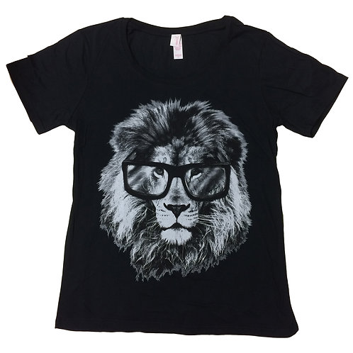 LION WEARING GLASSES Clever Cat