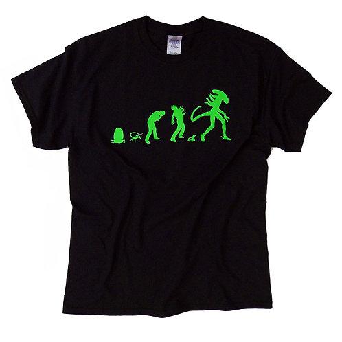 """Alien inspired T-shirt """"Alien Evolution"""" S - 5XL"""