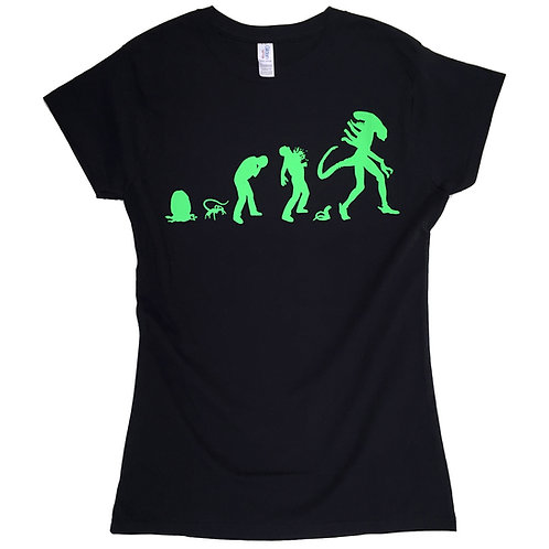 ALIEN inspired T-shirt for Ladies - Alien Evolution > S - 2XL