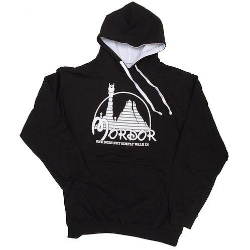"""Lord of the Rings"" inspired Hoodie> Parody of Mordor and Disneyland > S - 5XL"