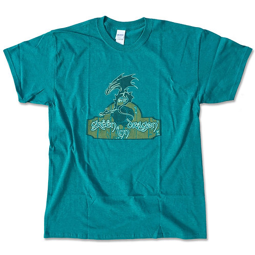 """Lord of the Rings inspired T-shirt """"Green Dragon"""" S - 2XL"""