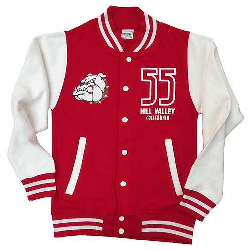 BACK TO THE FUTURE inspired design - Varsity Jacket with back print > XS - 2XL