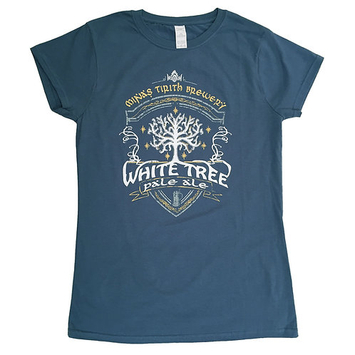 """Tolkien """"Lord of the Rings"""" inspired Ladies T-Shirt > White Tree Pale Ale"""