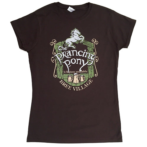 "TOLKIEN ""Lord of the rings"" inspired > Ladies T-shirt > Prancing Pony > S - 2XL"