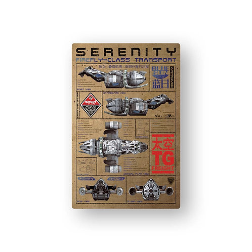 "SERENITY FIREFLY BLUE PRINT METAL POSTER ""SMALL SIZE"""