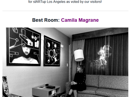 """Won 1st Place Award for """"Best Room"""" at the LA stARTup Fair"""