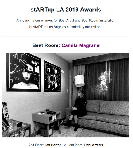 "Won 1st Place Award for ""Best Room"" at the LA stARTup Fair"