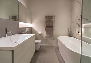 Contemporary bathroom, luxury bathroom, bathroom lighting