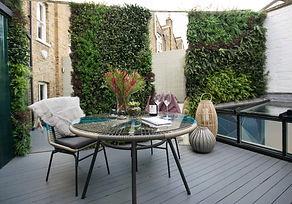 Green wall, roof terrace, garden mirrors