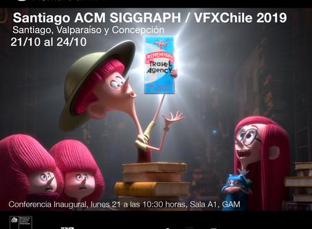 Del 21 al 24 de octubre se realizará una nueva versión de Santiago ACM SIGGRAPH / VFXChile 2019