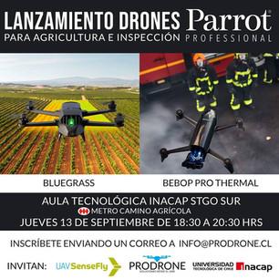 Lanzamiento Drones Parrot Bluegrass - Parrot Bebop Pro Thermal