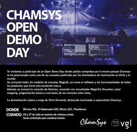 Chamsys Open Demo Day