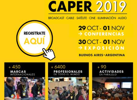 Del 30 de octubre al 1 de noviembre, TECOMTEL estará presente en Feria CAPER 2019 (Buenos Aires, Arg