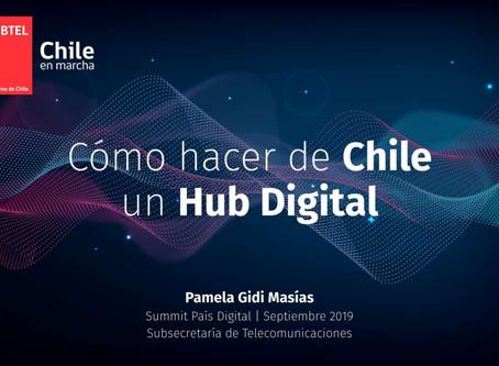 CÓMO HACER DE CHILE UN HUB DIGITAL, Subsecretaria de Telecomunicaciones Pamela Gidi en 7º Summit Paí