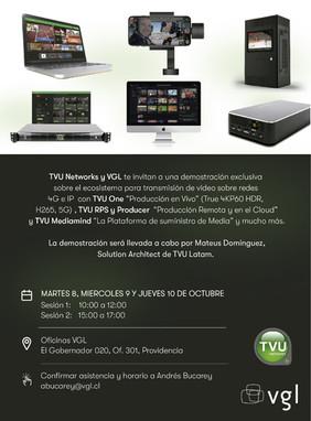 Demostración Exclusiva Sistema transmisión TVU ONE