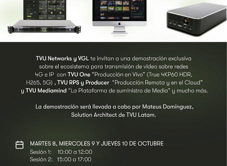 Demostración Exclusiva Sistema transmisión TVU ONE