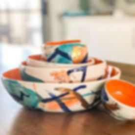 'Gerroa Sunset' - wheelthrown porcelain