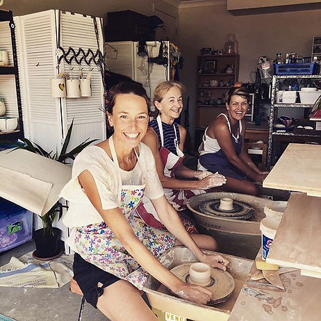 A fabulous morning of pottery fun for th