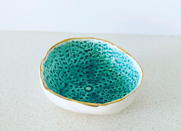Sea urchin porcelain dish