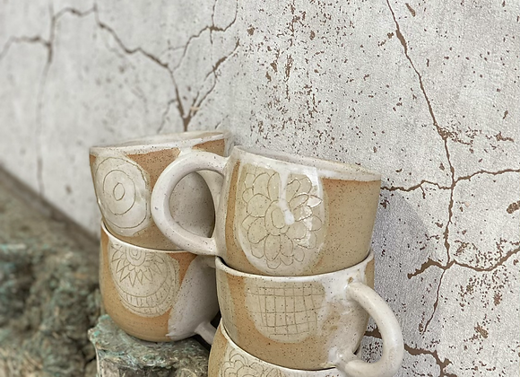 Sandy shore mugs
