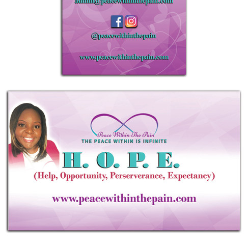 Peace Within the Pain Business Card 2018