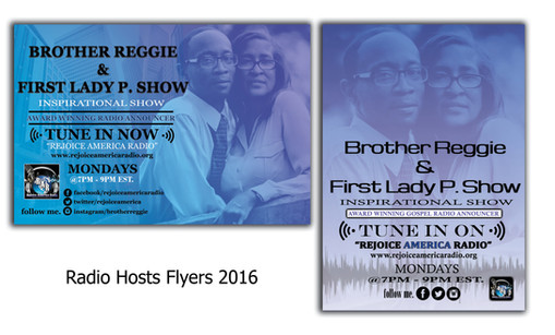 Radio DJ, Brother Reggie & Lady P.