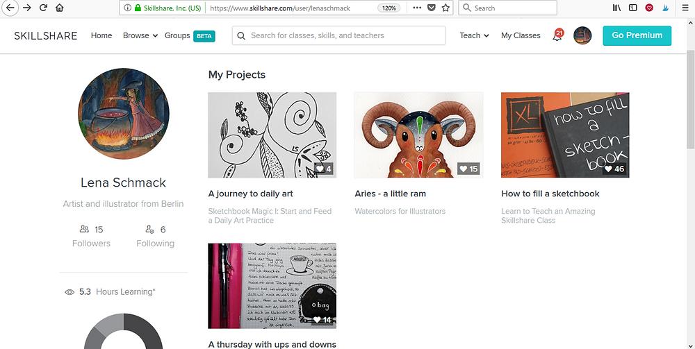 Lena Schmack Online Kurse für Illustratoren Skillshare Projektübersicht