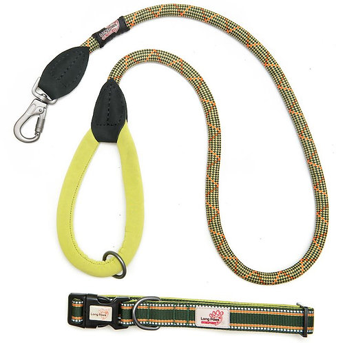 Green Comfort Collar & Leash