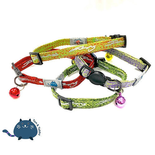 Tom & Tabby Reflective Cat Collar