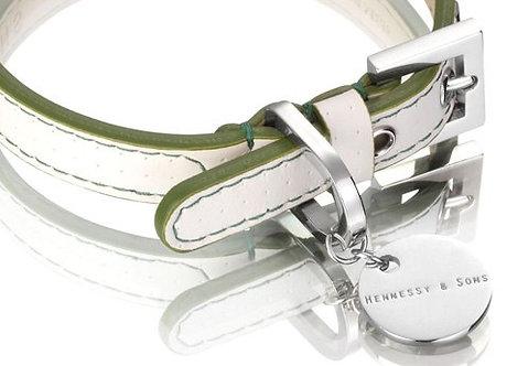Polo Collar - White/Green