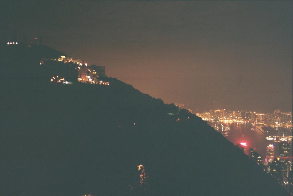 35mm color photo victoria peak, hong kong