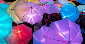 Umbrellas Illuminate UPMC Field in Arnold Palmer Tribute