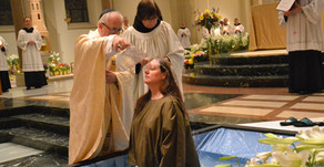 Easter vigil caps journeys of faith for five students