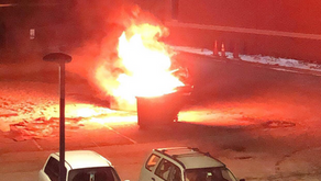 Gerard Hall residents witness 1 a.m. dumpster fire