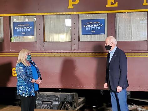 Biden visits Latrobe