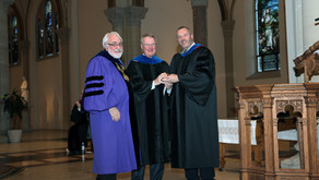 Business department presents new scholarship to honor professor