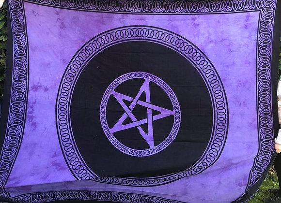 Purple Pentacle Altar Cloth
