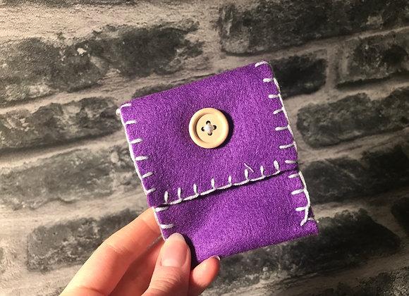 Purple Spell Bag - Handsewn