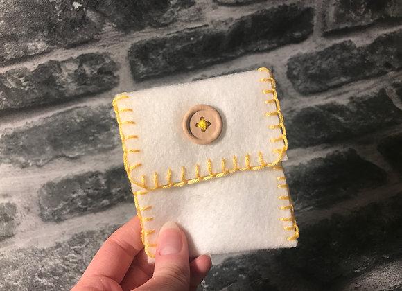 White Spell Bag - Handsewn