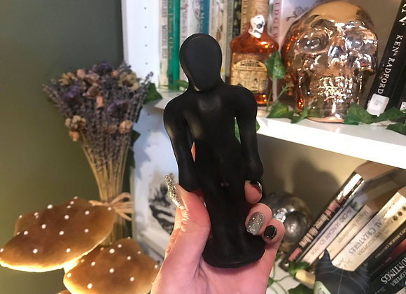 Black Male Poppet Candle   100% Beeswax
