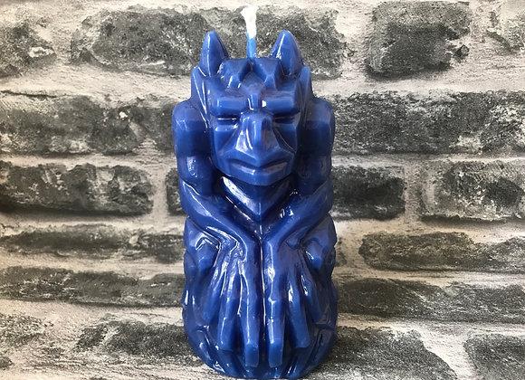 Beeswax Gargoyle Candle - Blue