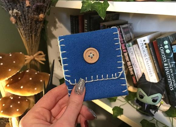 Blue Spell Bag - Handsewn
