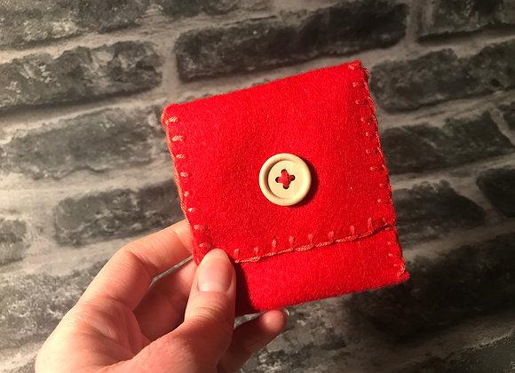 Red Mojo/Gris Gris Bag - Handsewn