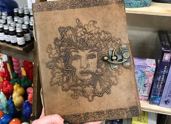 Green Man Leather Book of Shadows
