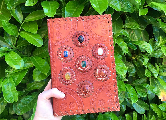 Chakra Leather Book of Shadows