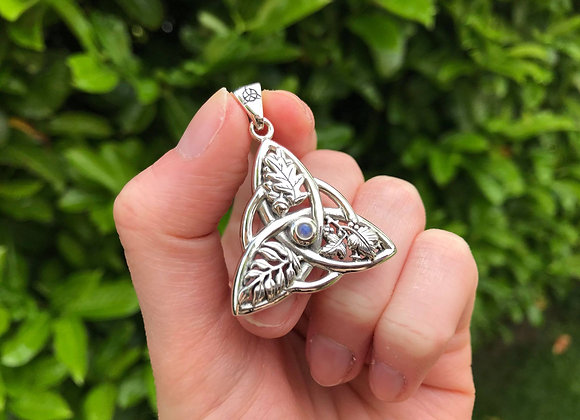 Oak, Ash and Thorne Rainbow Moonstone Pendant - Sterling Silver