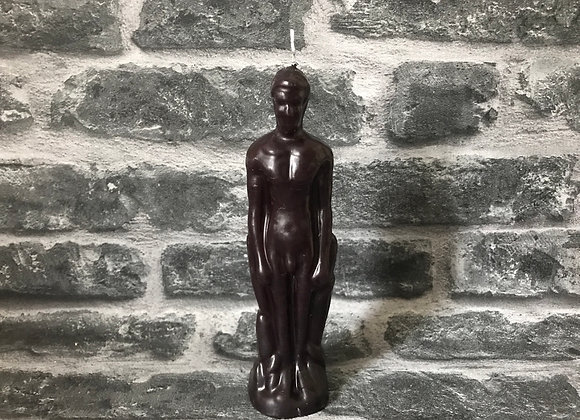 Black Beeswax Male Figure Candle